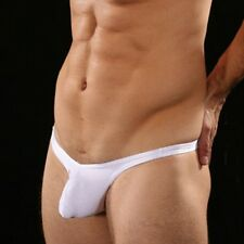 Men's Male White Sling Shot G String Penis Thong Pouch Funny Present