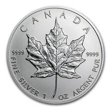 2001 1 oz Silver Canadian Maple Leaf Coin - Brilliant Uncirculated - SKU #11066