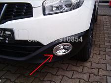 Front Head Fog Lamp Light Bezels Cover trims For Nissan Qashqai Dualis 2011~2013