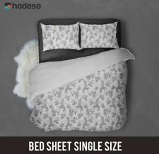 Hodeso Bedsheet Ornamental plants Single Size With FREE Pillow Case (Violet)