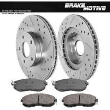 Front Drilled And Slotted Brake Rotors & Ceramic Pads For I35 Altima Maxima