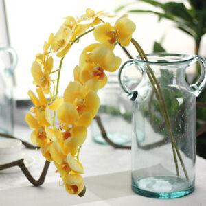 Artificial Fake Silk Flower Orchid Phalaenopsis Flower Wedding Home Garden Decor