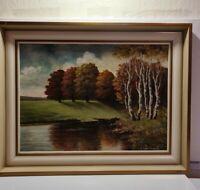 Gemälde Öl auf Leinwand # Herbst im Wald# 1980-1990 # Signiert # Orginal