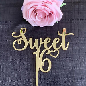 Sweet 16 Birthday Cake Topper,Sixteen 16th Birthday Cake, your choice of colour