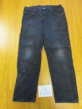 used Wrangler 97601CB black tag 38x32 meas 36x31.5 jean zip15588