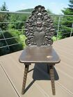 Antique hand-carved Black Forest chair around 1860
