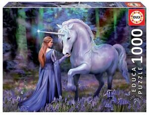 Educa 1000 Piece Jigsaw Puzzle - Anne Stokes: Bluebell Woods