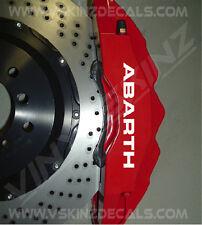 FIAT Abarth Premium Brake Caliper Decals Stickers 500 500c Punto Uno Bravo Evo