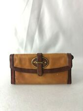 Fossil Vintage Reissue Russet Brown Flap Leather Clutch Purse Wallet, Pre-owned