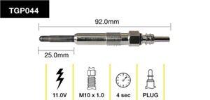 Tridon Glow Plug TGP044 fits Volkswagen LT 28-35 2.5 TDI (2D) 80kw