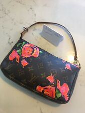 e66a3f9cbfe0 Louis Vuitton Limited Edition Roses Pochette Stephen Sprouse