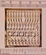 Photo-etched Sheet of STABLEMATE BITS in 1:32 Model Horse Scale - GOLD PLATED