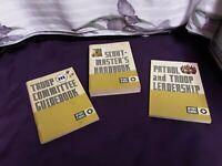 Lot of Vintage 1972 BSA Scout-Masters Handbook, Troop Committee, Patrol & Leader