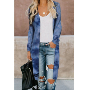 Women's Top Cardigan Sweater Coat Outer Camouflage Long Sleeve Knit Fashion Chic