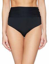 Trina Turk Womens Swimwear Black 10 High Waist Foldover Bikini Bottom $58 518