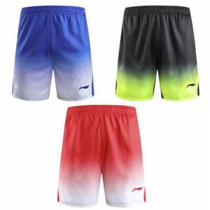 Li Ning men Badminton Sport shorts Tennis pants