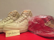 Nike air jordan retro 2 juste don nous 8 UK 7 41 C cuir rouge chapeau DB bin plage