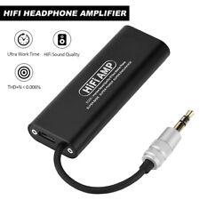 SD05 Mini 3.5mm Stereo Headphone Amplifier Audio Earphone AMP Mobile Phone Black
