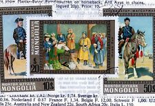 Mongolia ~ Sporting National Heroes ~ Superb Set of  3 stamps issued in 1972.