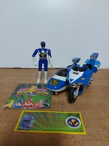 Vintage Bandai Power Rangers Figure With Motorcycle Loose Htf
