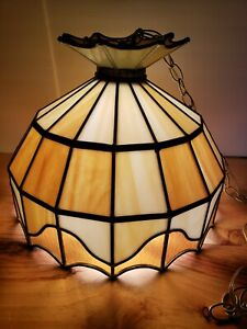 """Stained Glass Hanging Lamp Tiffany Style Ceiling Light Fixtures  16"""" DIAMETER"""