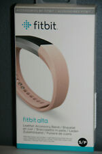 NEW SEALED Fitbit Alta Leather Accessory Band Blush Pink Small