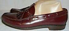 Men's G.H. Bass & Co. Weejuns Tassle Burgundy Leather Loafer  Size 8 D