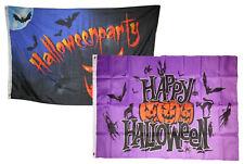 3x5 Happy Halloween 2 Pack Flag Wholesale Set Combo #12 3'x5' Banner Grommets