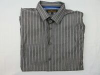 Ben Sherman Mens Shirt Size L Long Sleeve Button Up Regular Fit Grey Stripped