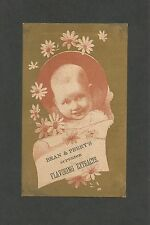 """Victorian Trade Card """"Bean & Perry's Superior Flavoring Extracts  - Late 1800"""