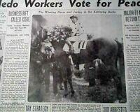 OMAHA Triple Crown Winner Horse Racing KENTUCKY DERBY Racehorse 1935 Newspaper