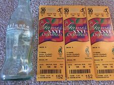 XXVI Olympic Games 3 unused tickets Soccer (Football) Atlanta Coca-cola Bottle