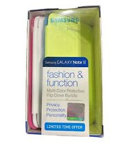 Samsung Galaxy Note 2 Flip Cover Case 4 Pack Green, Blue, Pink & White