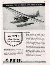 1942 Piper Sea Scout Airplane with plywood floats Vtg Print Ad