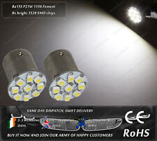 LED SMD BA15S R10W P21W 1156 382 Xenon White Side Parking Lights Marker Bulbs