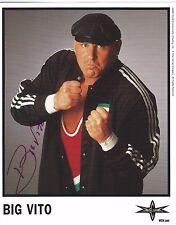Big Vito Signed WCW Promo 8x10 Photo