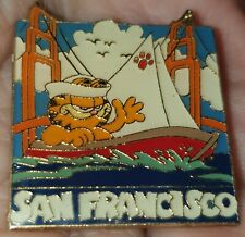 PIN'S PIN ANCIEN GARFIELD A SAN FRANCISCO BOAT GOLDEN GATE USA YEARS 1980 SUPERB