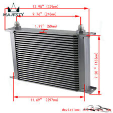 """25 Row 8AN Universal Engine Transmission Oil Cooler 3/4""""UNF16 AN-8 Silver"""