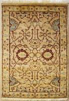 Rugstc 2.5x4 Senneh Chobi Ziegler Beige Area Rug,Natural dye, Hand-Knotted,Wool