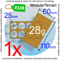 1x MDF Movement Tray 2x4 4x2 60x110mm 25mm Round Base Lord War Of The Rings LOTR