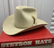 Mint Stetson 5x Rancher Skyline Tan Fur Felt Cowboy Western Hat W/ Box 7 1/4