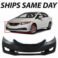 NEW Primered - Front Bumper Cover for 2013 2014 2015 Honda Civic Sedan 13-15