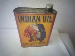 bidon hule INDIAN OIL pour atobiles ancien