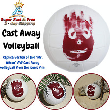 Premium Outdoor Indoor Leather Volleyball Cast Away Replica Volleyball NEW