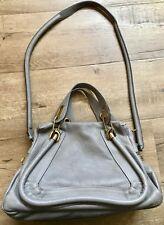 Pre-Loved Chloe Paraty Medium Calfskin Leather Satchel Bag GREY CASHMERE $1995