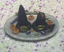 Dollhouse Miniature Handmade 'Plate Of Candy Stuffed Witch Hats' 1:12 Halloween