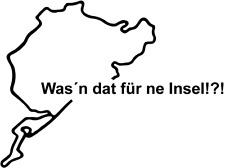 Nürburgring Nordschleife Insel? viele Farben Größe 13 cm x 10 cm ANSEHEN