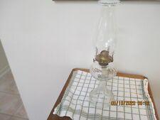 Kerosene Lamp No 1 Queen Ann solid brass burner.beaded chimney