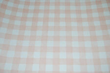 Pale Peach / Pink and White Checkered Wallpaper Roll [W1035]