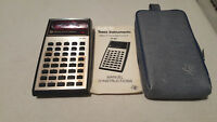Texas instruments TI-30 vintage calculator including Travel pouch & user's guide